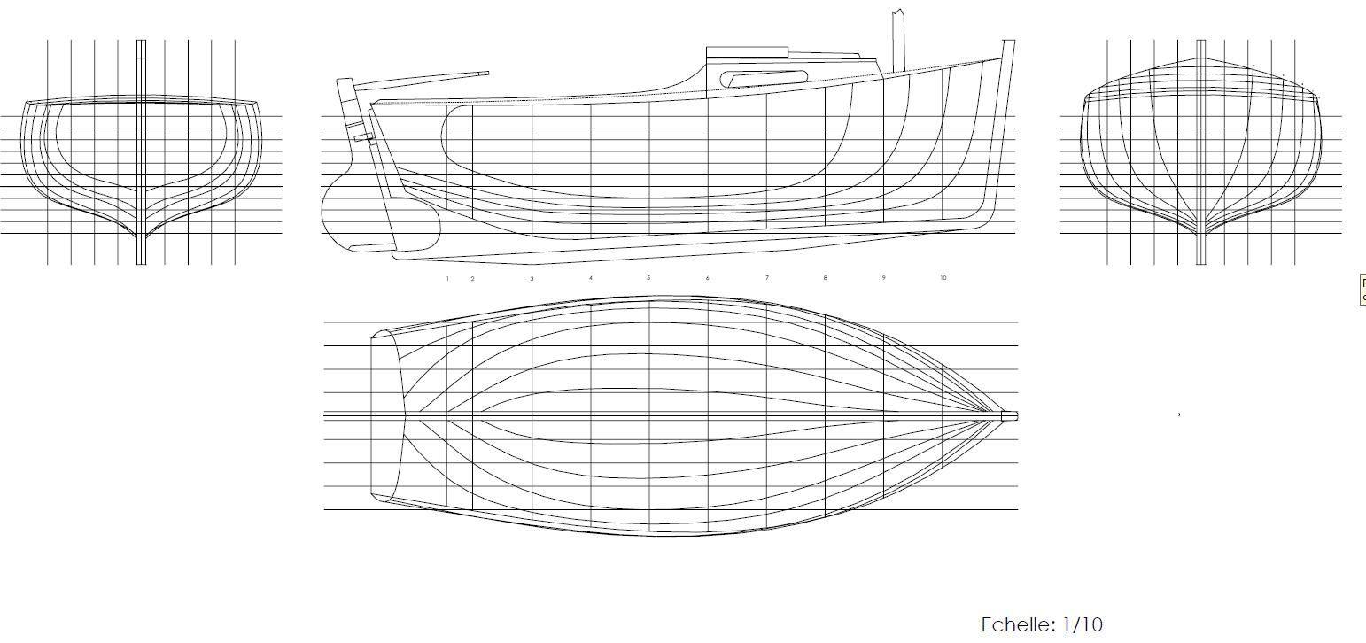 Plan formes coque courlis