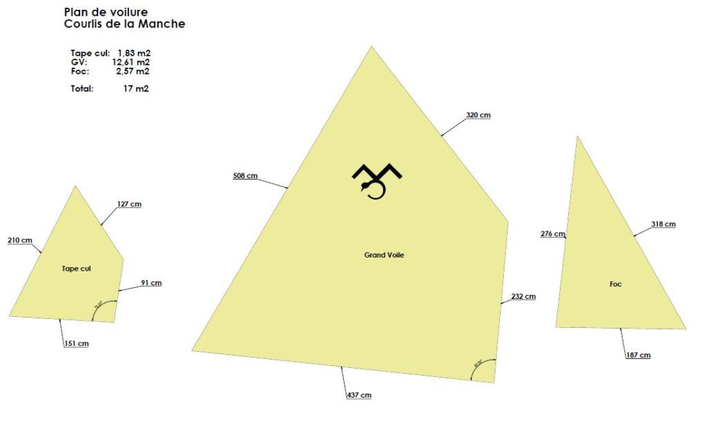 Plan surface voilure Courlis