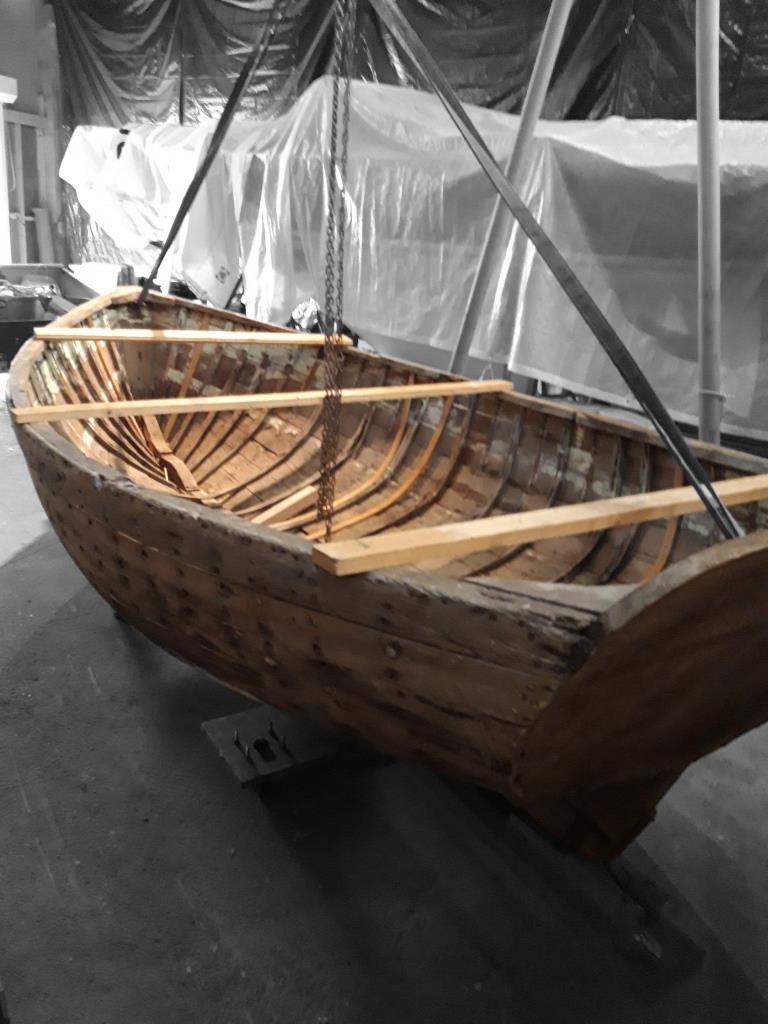 Barque en bois patrimoine st valery